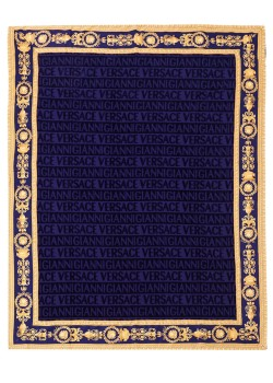 Bath towel by Versace blue