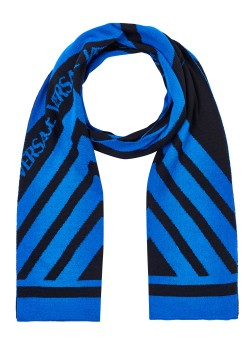 Versace scarf, 180x32cm, royal blue