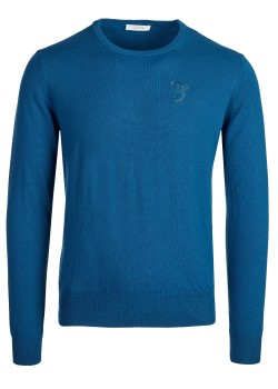Versace Collection pullover petrol blue