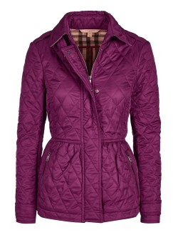 Burberry Brit quilted jacket violet