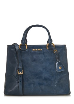 Shopping bag Vitello Shine blue