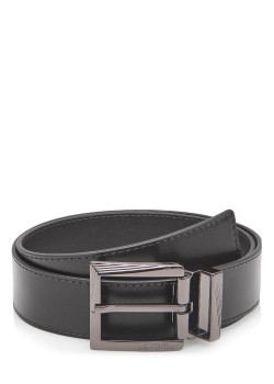 Versace belt with smooth black leather