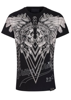 "Philipp Plein T-Shirt Round Neck SS ""Dramatic"""