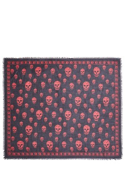 Alexander McQueen kerchief black/red