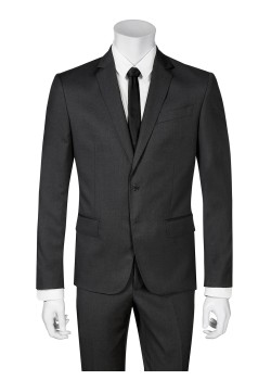 Pierre Balmain suit slim fit dark grey