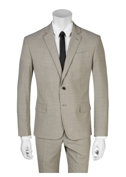 Pierre Balmain suit slim fit grey-brown