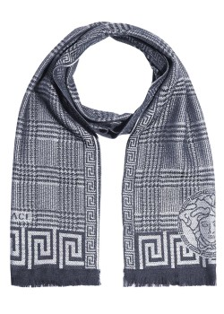 Versace scarf, 180x36cm, light blue