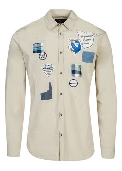 Dsquared Poplin Patches Relax Dan Shirt