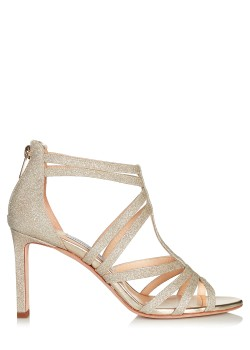 Jimmy Choo Metallic Selina 85 Dusty Glitter Sandals