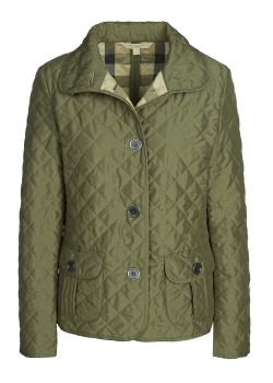 Burberry Brit quilted jacket dark green
