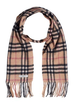 Burberry camel hair beige scarf