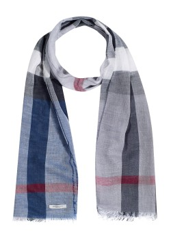 Burberry scarf with silk dark blue