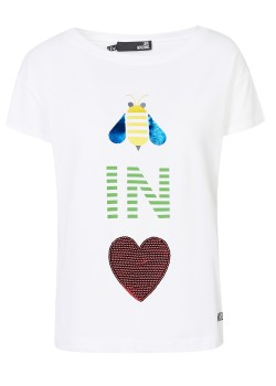 Love Moschino top white