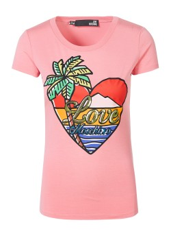 Love Moschino top rose