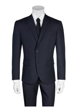 Corneliani suit black-blue
