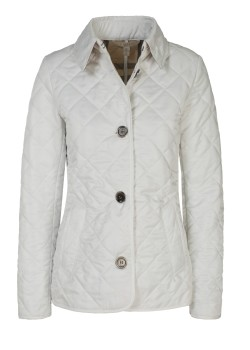 Burberry Brit quilted jacket white