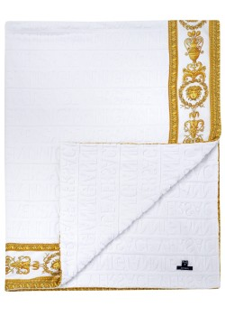 Bath towel by Versace white