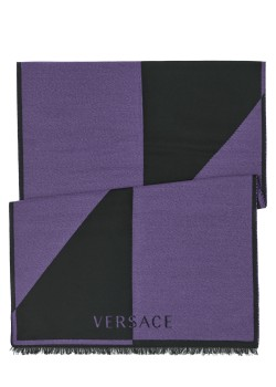 Versace scarf purple