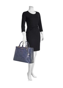 Shopping bag Vitello Shine dark blue