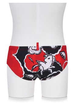 Dsquared swimming trunk red
