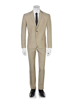 Pierre Balmain suit slim fit beige