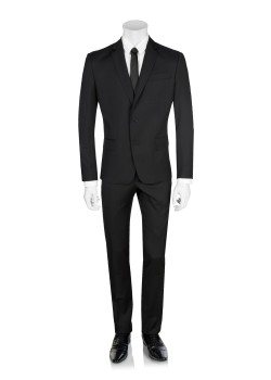 Pierre Balmain suit slim fit black