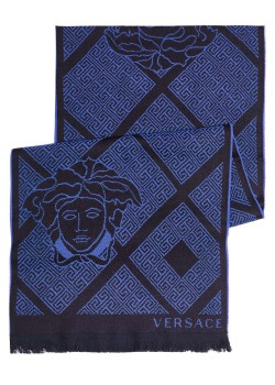 Versace scarf, 180x36cm, royal blue