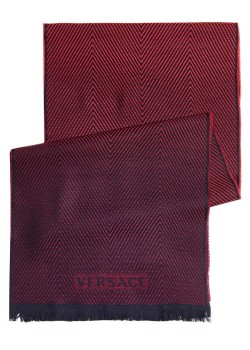 Versace scarf, 180x36cm, red