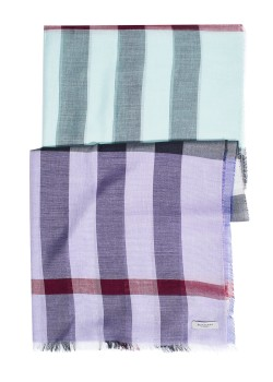 Burberry scarf with silk multicolored